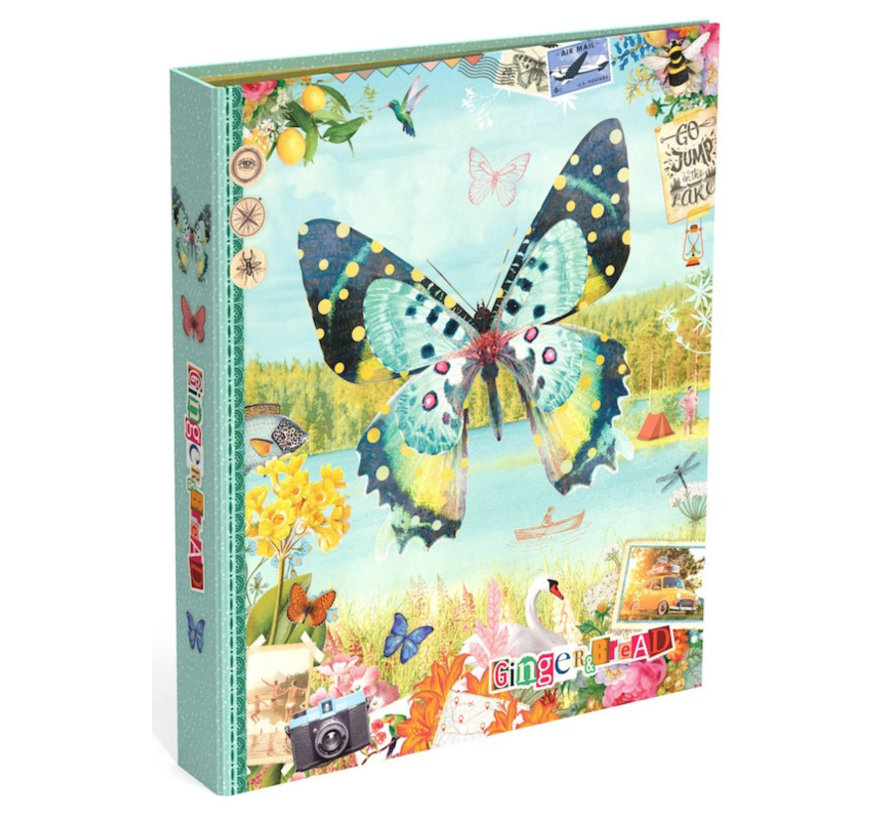 Ringband 4r - vlinder - groen