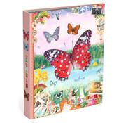 Gingerbread Ringband 4r - vlinder - roze