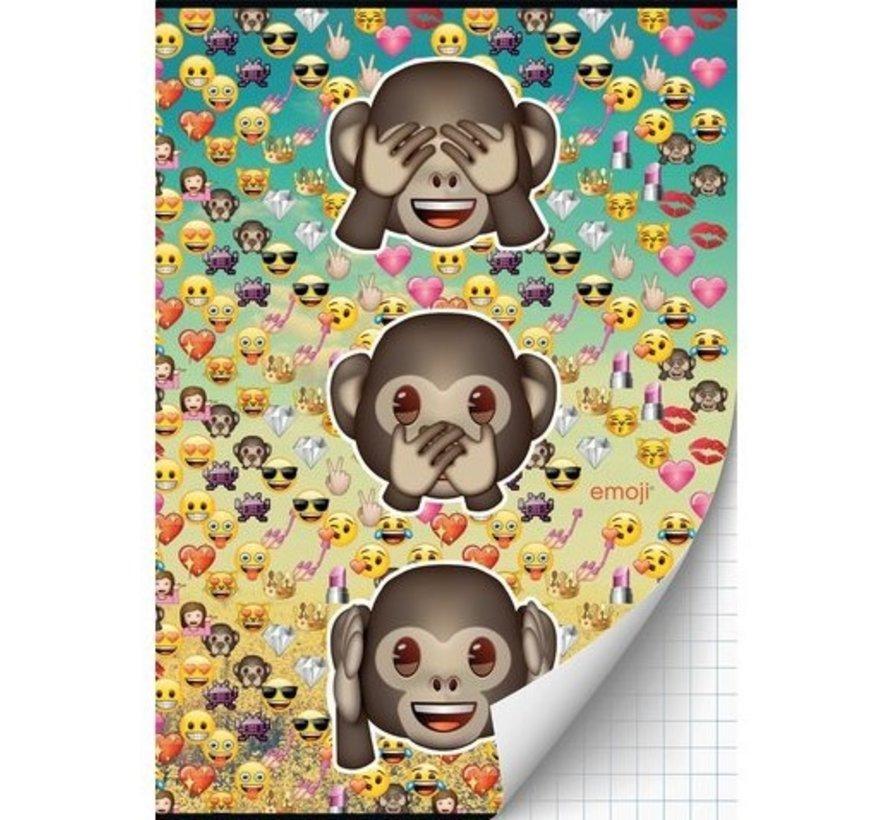 schrift geruit - aapjes