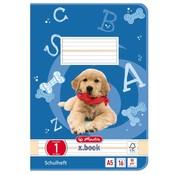-1st- A5 oefen schrift liniatuur 1 hond (5-5-5 lijntjes)