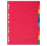 Exacompta Tabbladen gekleurd karton - 10 delig extra dik
