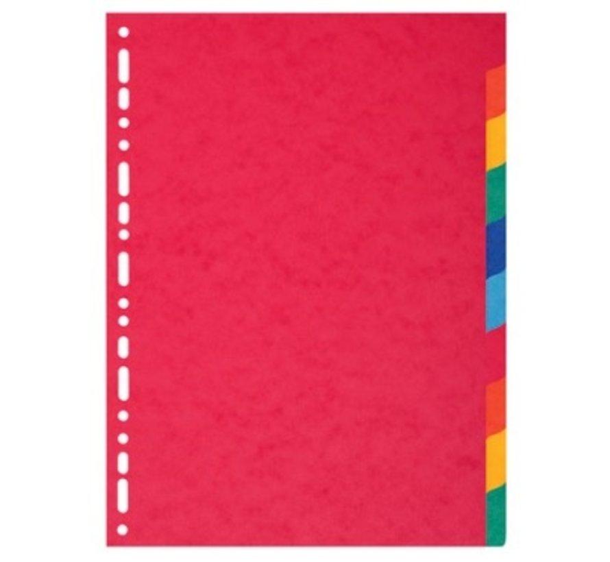 Tabbladen gekleurd karton - 10 delig extra dik