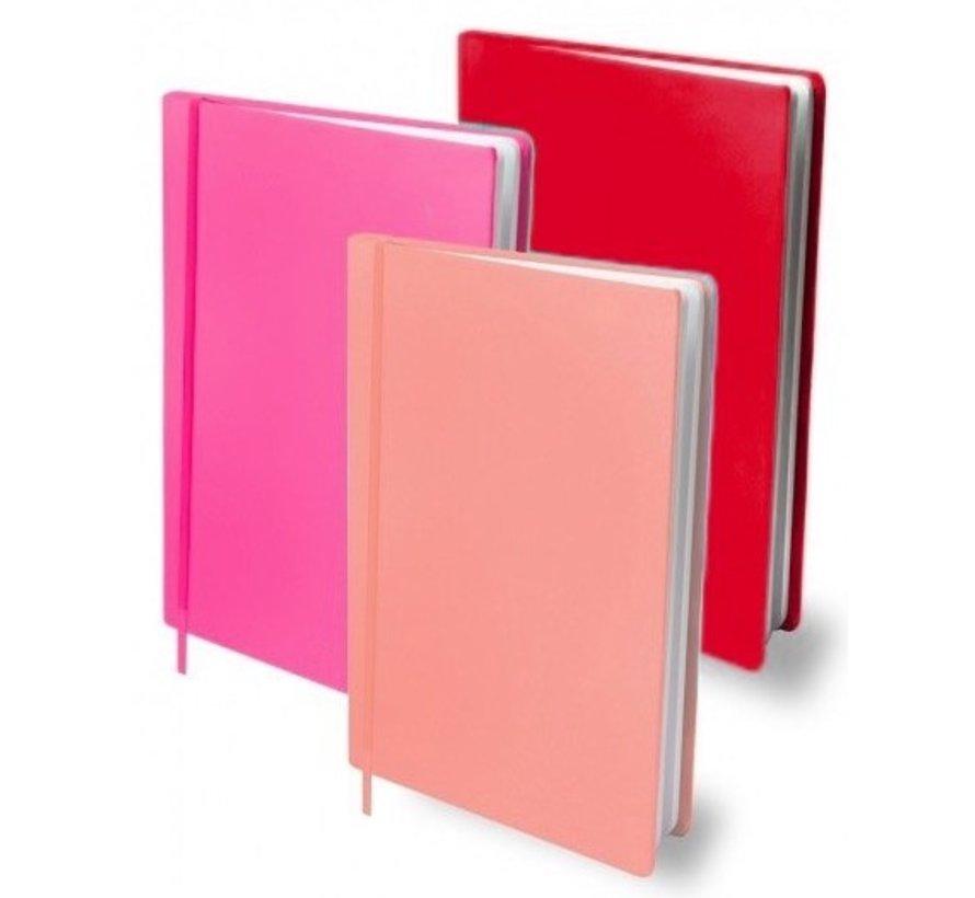 Voordeelpak rekbaar kaft G - A4 rood/roze
