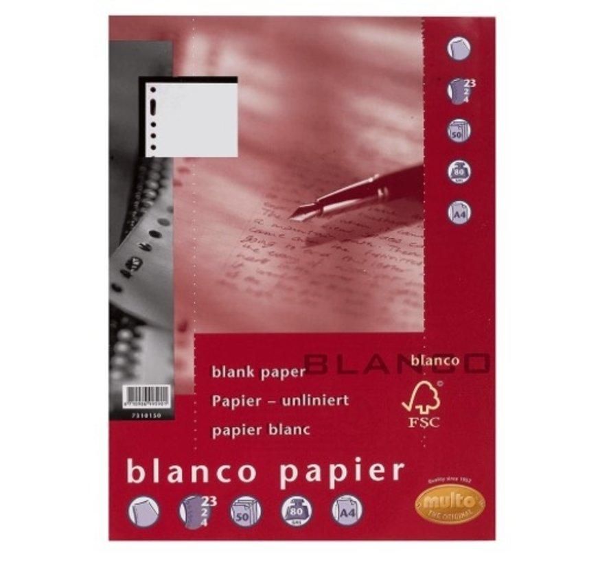 Blanco papier - wit 80g