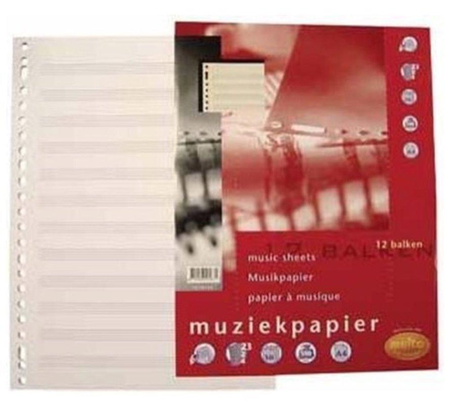 Muziekpapier - notenbalk papier