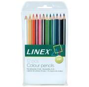 Linex Kleurpotloden - 12 stuks