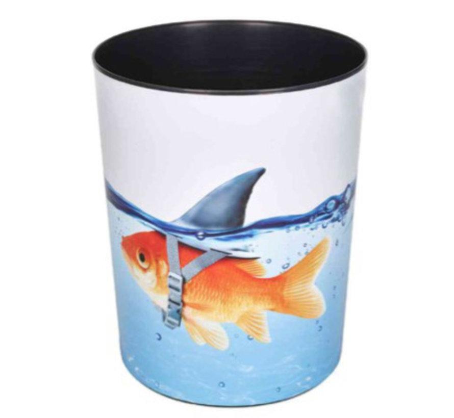Prullenmand - goudvis haai