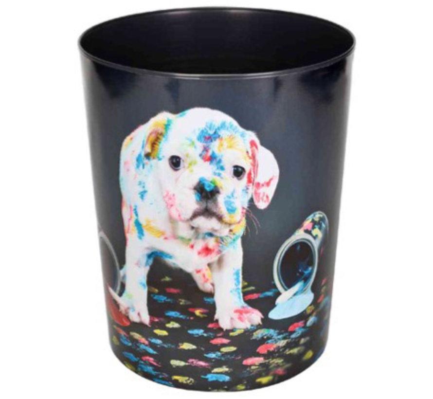 Prullenmand - hond verf