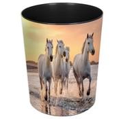 -1st- Prullenmand - paarden op strand