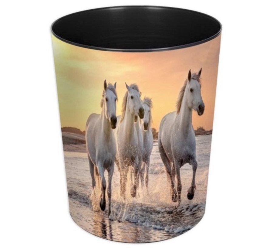 Prullenmand - paarden op strand