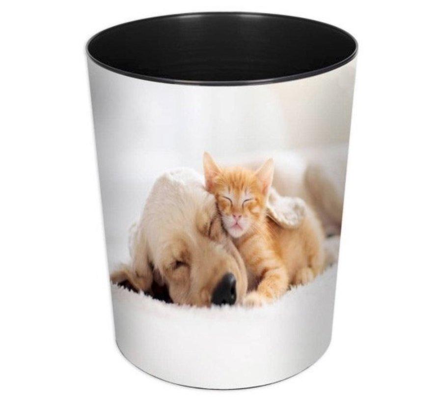 Prullenmand - hond en kat