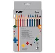 Lamy 4Plus kleurpotloden - 12 stuks