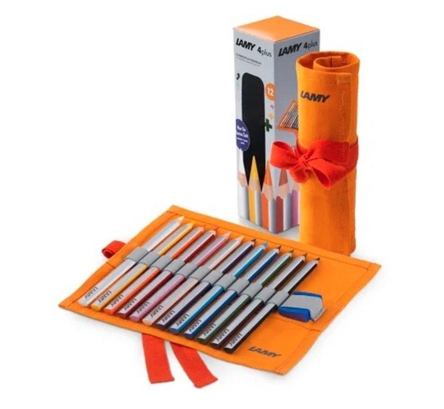 4Plus kleurpotloden - geschenkset 12st
