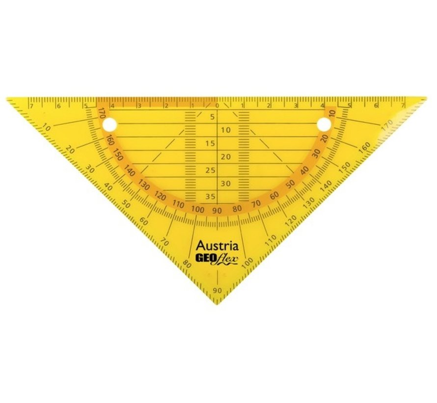 Ringband geodriehoek - flexibel oranje