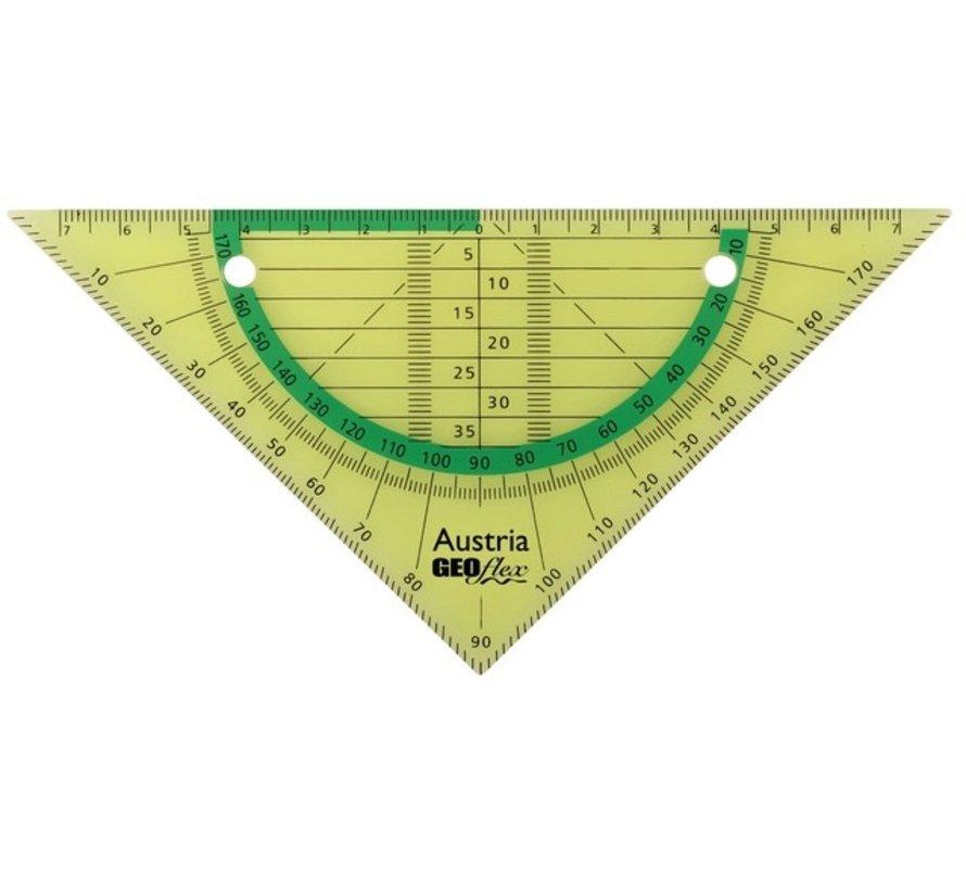Ringband geodriehoek - flexibel groen