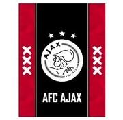 Ajax A4 ruitjes schrift - zwart/rood