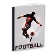 Football A4 ruitjes schrift  - grijs