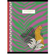 Accessorize Fashion A4 ruitjes schrift - luipaard