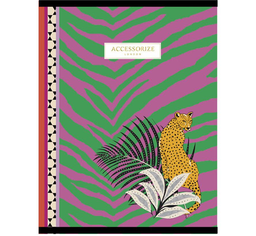 Fashion A4 schrift gelinieerd - luipaard