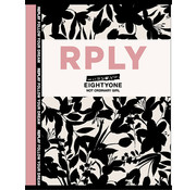 Replay A4 ruitjes schrift - eightyone black/white