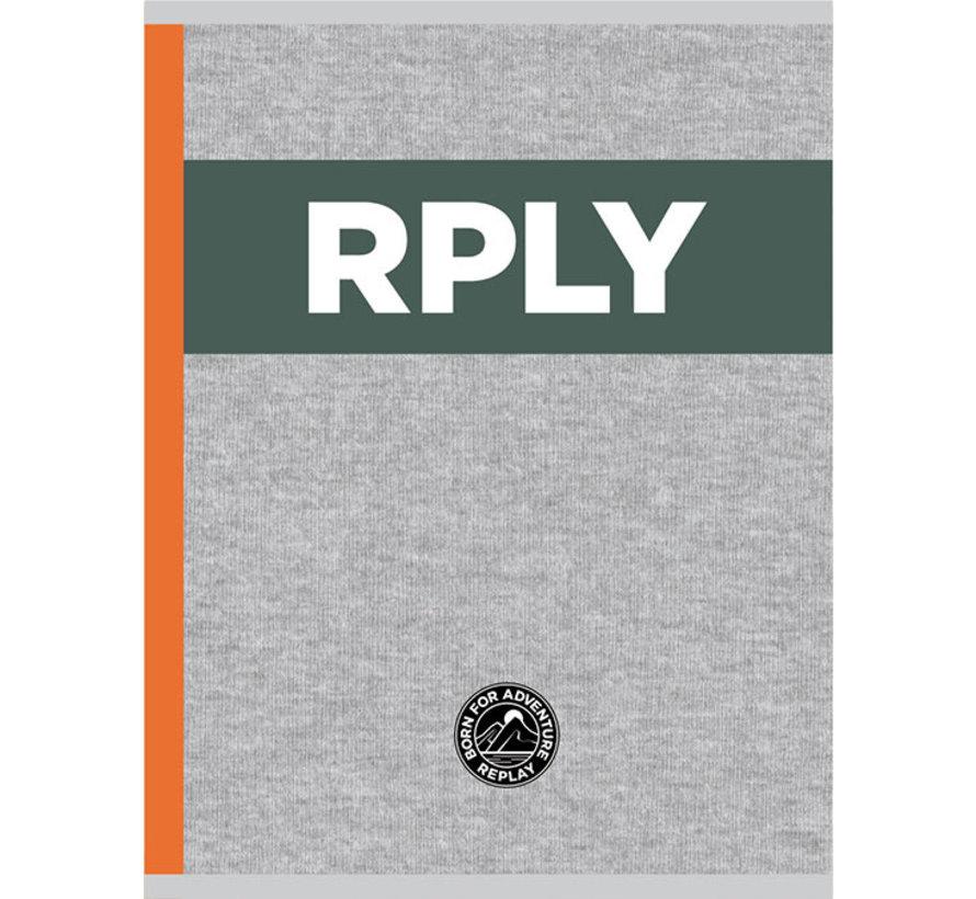 A4 schrift geruit - RPLY grey