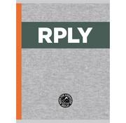Replay A4 lijntjes schrift - RPLY grey