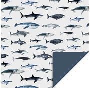 . Kaftpapier - haai dolfijn walvis