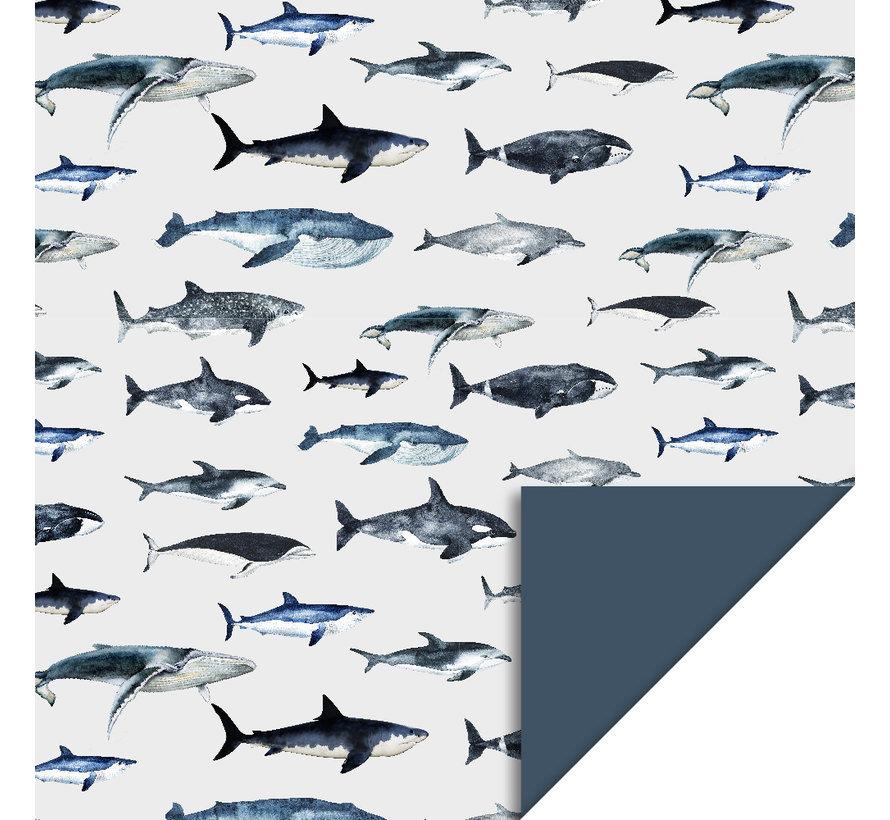 Kaftpapier - haai dolfijn walvis
