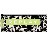 Replay Girls etui - off white black flower