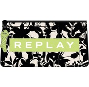 Replay Etui dubbel - off white