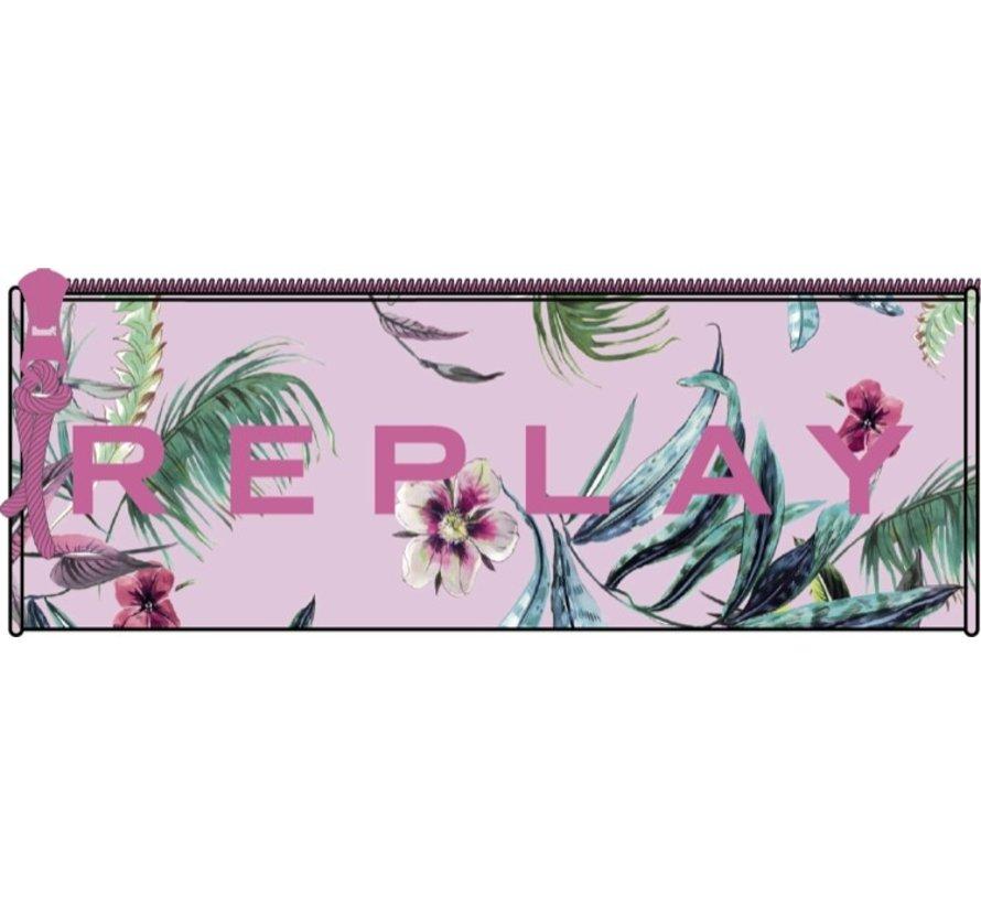 Girls etui rond - pink flower
