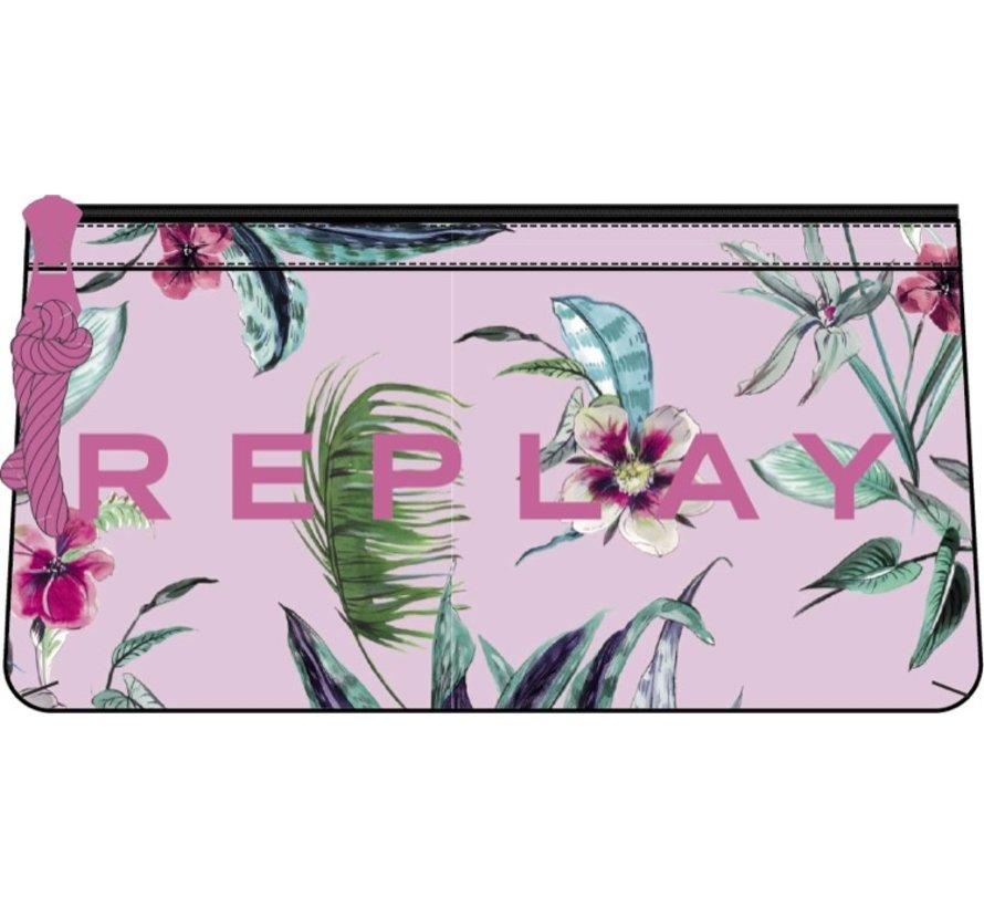 Dubbel etui - pink flower