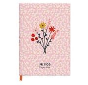 Rice Notitieboek A5 lijn - roze