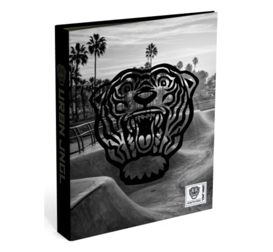 Ringband 2 ringen - tijger grijs