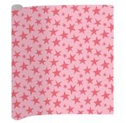 Little Diva 0,7x2m Superstart kaftpapier - sterren roze