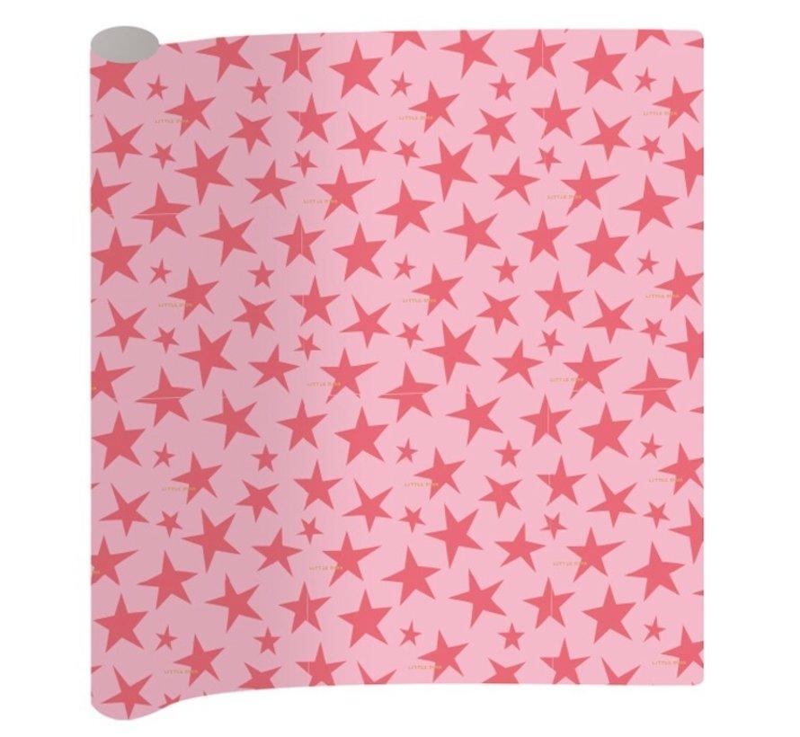 Sterren kaftpapier - roze
