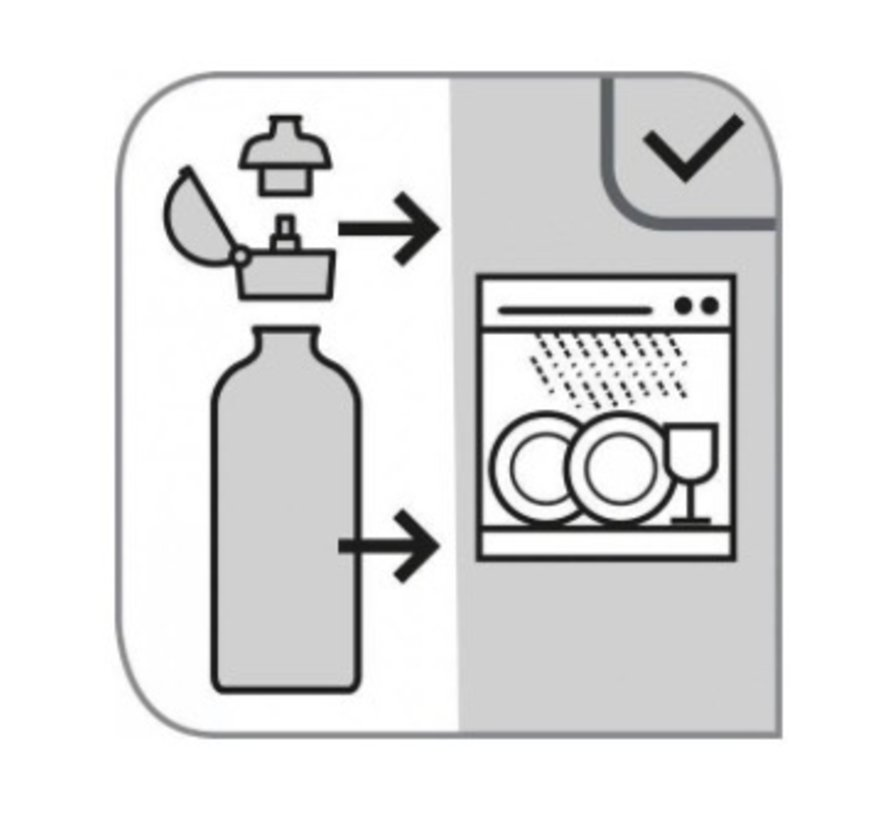 Kunststof drinkfles, 100% BPA-vrij
