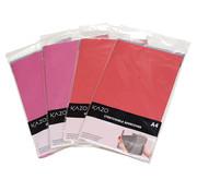 . 4x rekbaar kaft  voordeelpak - rood/roze A4
