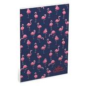 Love A4 ruitjes schrift - Flamingo