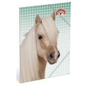 My Favourite friends Elastomap A4  paard - groen