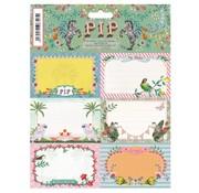 Pip Studio Etiketten - zebra