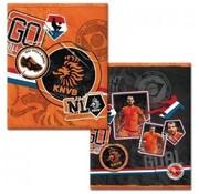 KNVB A5 schriften - oranje-zwart