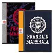 Franklin & Marshall 3x A5 schriften - orange/blue