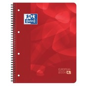 Oxford Projectboek met tabs - rood 5mm geruit