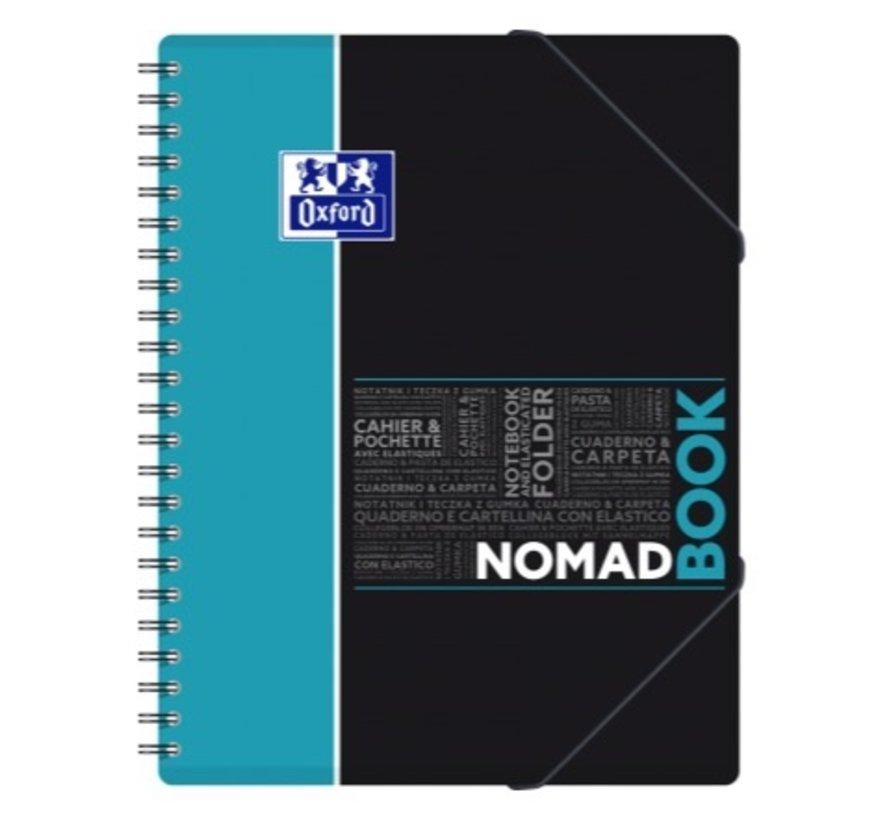 Nomadbook A4 lijntjes collegeblok met elastomap