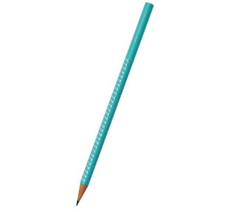 Standaard grijs, grafiet potlood, met gekleurde behuizing