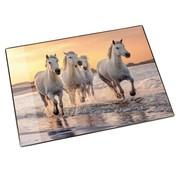 . Bureaulegger - paarden op strand
