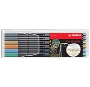 Stabilo Pen 68  viltstift metallic - etui 6 stuks