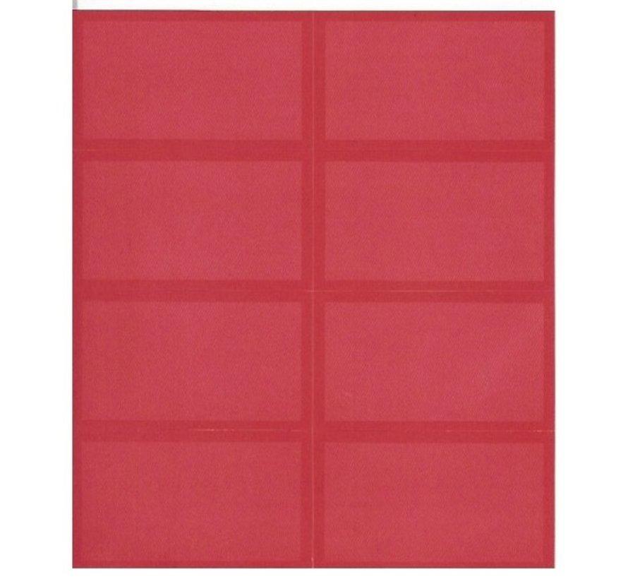 Schooletiketten - rood