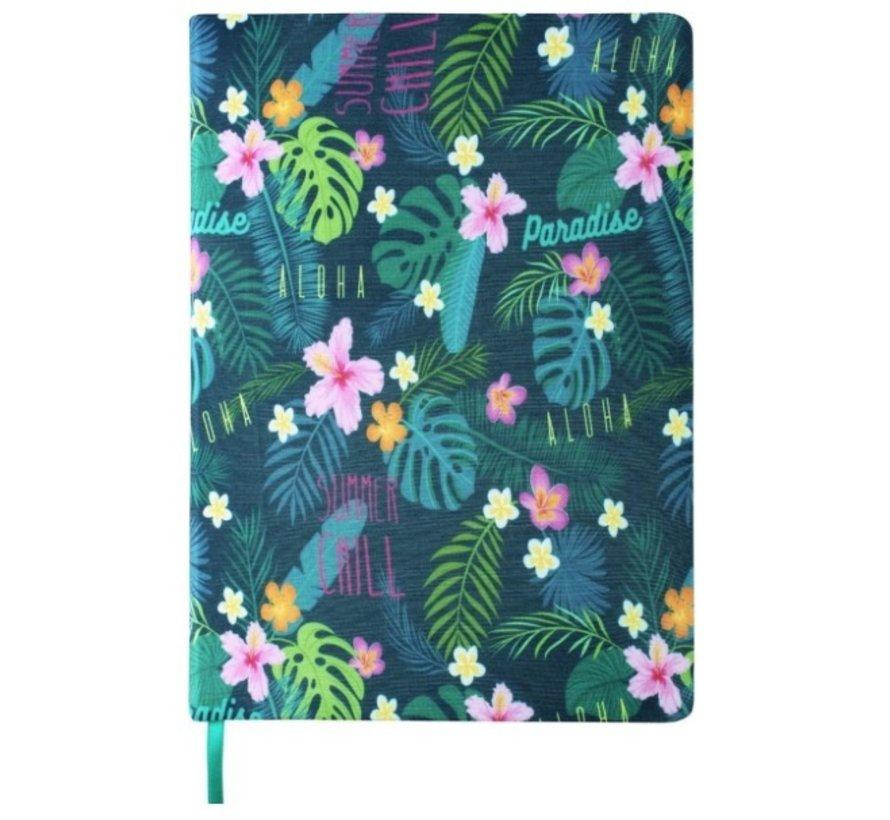 Rekbare kaft A4 - tropical flowery